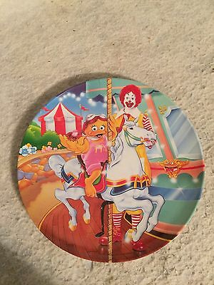 Vintage 1993 PMC McDonald's Merry Go Round Plate. Ronald & Birdie The Early Bird