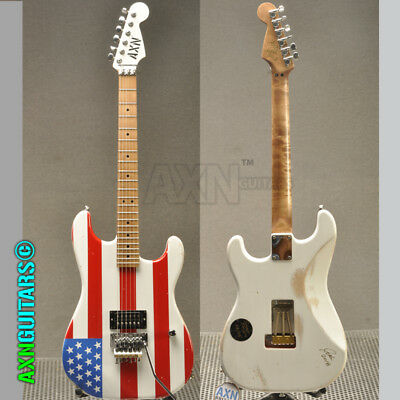 AXN™ SunsetStrip™ Model 2 Guitar USA Flag Graphic Soft Relic