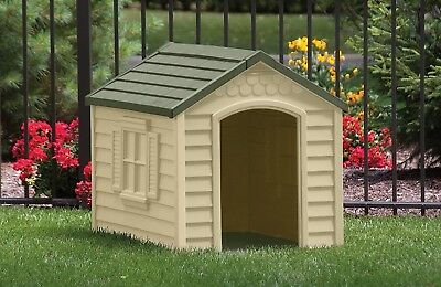 New! Suncast DH250 Deluxe Dog House Durable Resin All Weather Dog House