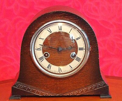 Vintage Art Deco 'Smiths Enfield' 8-Day Striking Mantel Clock