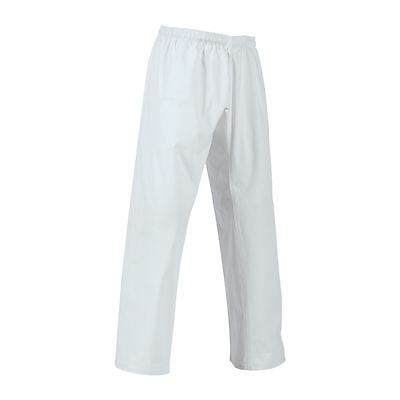 BEST NEW White Karate Gi pants size 0000,000,00,0,1,2,3,4,5,6,7,8,9 Martial Arts