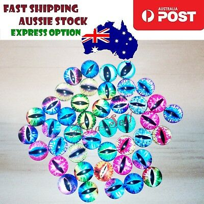 42pcs 10mm Glass Doll Eyes Cat DIY Craft Toy Dinosaur Time Gem Eye