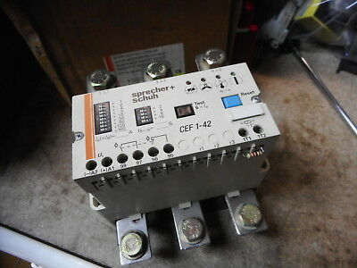 SPECHER and SCHUH -- ELECTRONIC MOTOR PROTECTION RELAY -- CEF1-42-240VAC