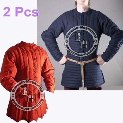 exp.shipping Thick padded Medieval Camel Gambeson Jacket COSTUMES DRESS coat