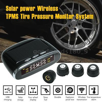 Solar Power Wireless TPMS Tire Pressure Monitor System with 4 external K3F8