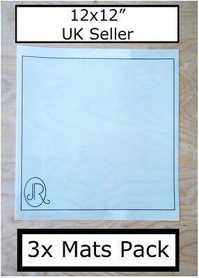 JR UK 3x 12x12 Mats For use with Silhouette Cameo cutting Pack on Carrier sheets