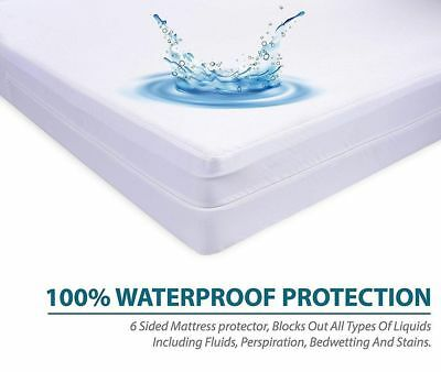 """Very Soft Microfiber Zippered Mattress Cover, Bed Bug Protector, Extra Deep 16"""""""