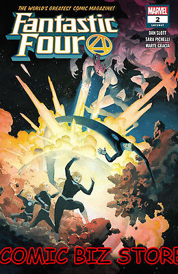 Fantastic Four #2 (2018) 1St Printing Main Cover Bagged & Boarded Marvel Comics