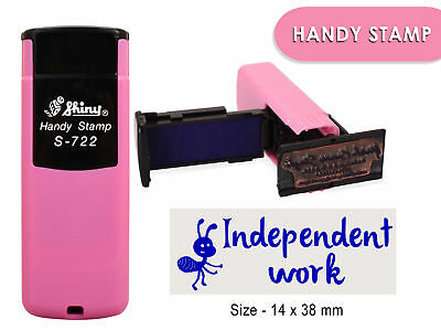 Customized Self Inking Rubber Stamp Shiny S-722 Office Text Stamper 14x38 MM