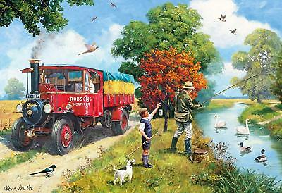 NEW! Gibsons Afternoon Angling 500 piece nostalgic jigsaw puzzle G3104