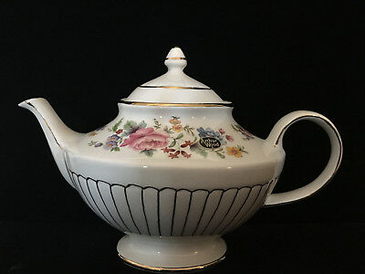 Arthur Wood and Son Gold and Roses Vintage Teapot with Original Sale Sticker
