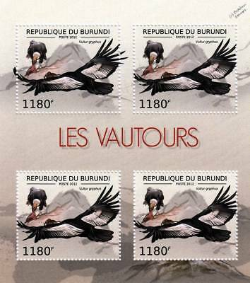 VULTURE Andean Condor/Scavenging Bird of Prey Stamp Sheet #3 of 7 (2012 Burundi)