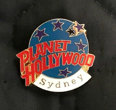 Planet Hollywood Blue Planet with Stars Pin - Sydney Australia