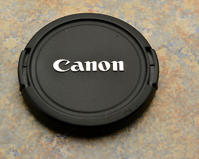 Genuine Canon EOS E 52mm Snap-On Front Lens Cap Chrome Logo 50mm 1.8 (#2988)