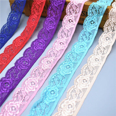 10 yards 25mm wide stretch elastic lace ribbon Trims lace trimmings For Sewing
