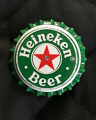 Heineken Beer - Bottle Cap Pin with LED