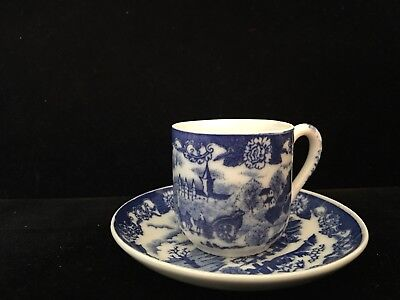 VINTAGE IRONSTONE WARE Blue Willow Cup And Saucer, Made In