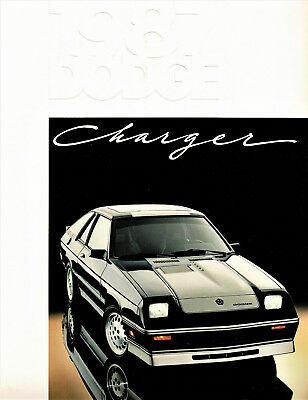 1987 Dodge Charger and Shelby Charger Dealer Sales Brochure