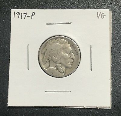 1917-P U.s. Buffalo Indian Nickel ~ Vg Condition! $2.95 Max Shipping! C26