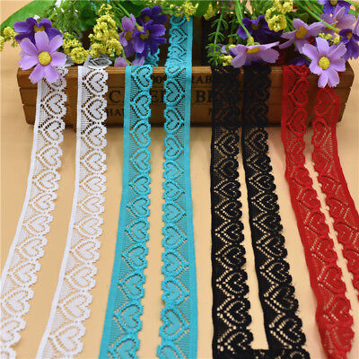 10 yards stretch elastic lace ribbon 18mm lace trimmings for sewing accessories