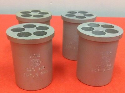 IEC - Cat. #369 Centrifuge Swing Rotor Bucket Tube Insert - 107.5 GMS - Lot of 4