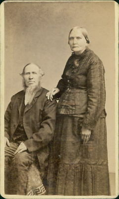 Old Lady & Gentleman  CDV. JD.1485
