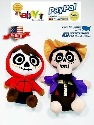 Miguel and Hector Plush Toy Set From Disney movie COCO Stuffed Doll Kids Gift