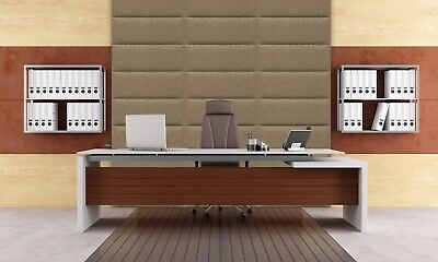 3D soft leather luxurious wall panels SALAMANDRA created by hand in Canada Beige