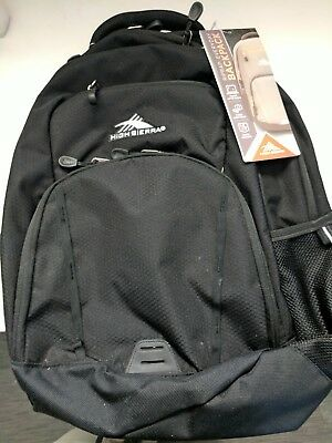 NTW Large Black Backpack w/ multi-compartments, padded, and adjustable straps