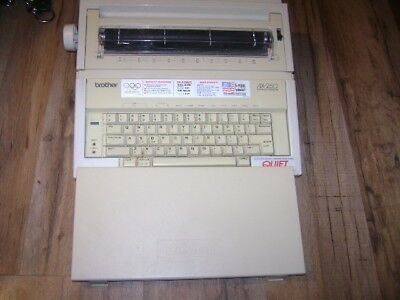 VTG Brother AX-250 Electric Typewriter W/Print  Keyboard Cover & Power Cord