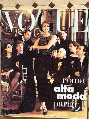 Italia Vogue Magazine 1991 September Linda Evangelista Dior Photo Steven Meisel