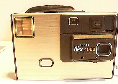 Vintage Kodak Disc 4000 Compact Film Camera Carry Case and Instruction Manual