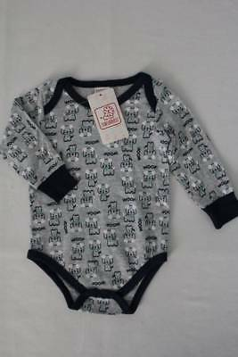 NEW Baby Boys Long Sleeve Bodysuit Size 0 - 3 Months Creeper Outfit Dog Woof