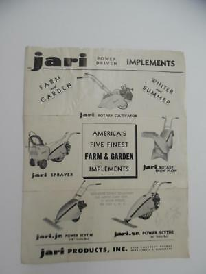 1952 JARI Farm Garden Implement Catalog Brochure Cultivator Power Scythe Vintage