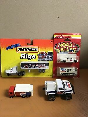 Vtg Pepsi Die Cast Metal Trucks/Cars Majorette, Matchbox, Remco, Hot Wheels Lot