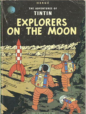 Herge The Adventures Of Tintin Explorers On The Moon 1974