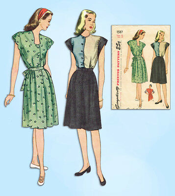 1940S JAHRE VINTAGE Simplicity Schnittmuster 4735 Misses WWII ...