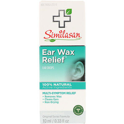 Similasan Ear Wax Relief Ear Drops 0 33 fl oz 10 ml All-Natural