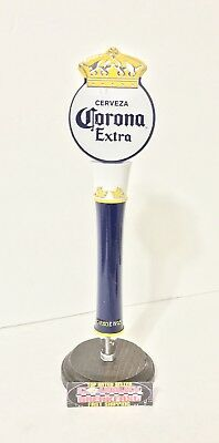 """Corona Extra Cerveza Crown Topper Beer Tap Handle 12"""" Tall Excellent CondItion!"""