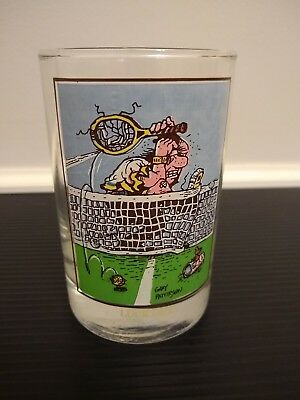 """Arby's Collectors series 1982 """"Luck Out"""" Gary Patterson design glass cup"""