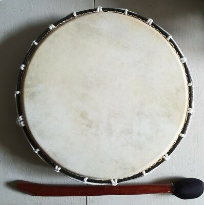SHAMANIC DRUM WITH BEATER~ NATIVE AMERICAN ~ 30cms ~
