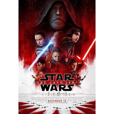 Star Wars The Last Jedi Authentic Theatrical Double-Sided DS 27x40 Movie Poster