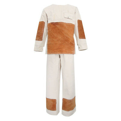 Welding Suit Coverall Flame Resistant Hood Protective Jacket Pants Long