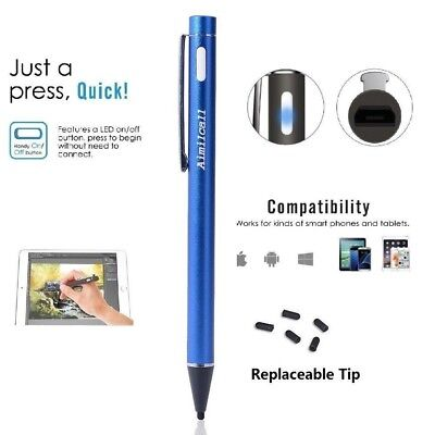 Aimilcall USB Rechargeable Active Stylus Pen, Fine Point Precision Drawing pen