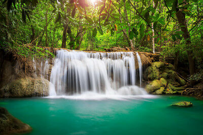 CANVAS PRINTS FRAMED or ROLLED FROM A4 - RAINFOREST WATERFALL