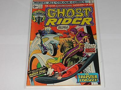 Marvel Ghost Rider 13 August 1975 Very Fine+ UK Price Variant