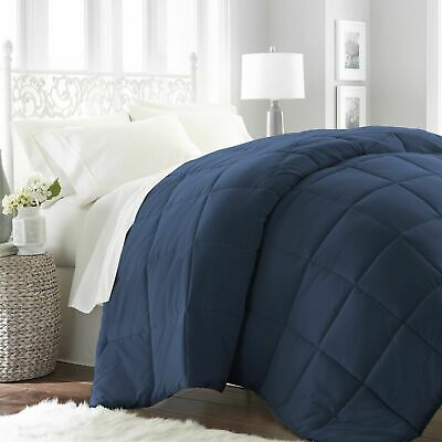 Goose Down Alternative Luxurious Reversible Comforter Full Queen and King BLUE