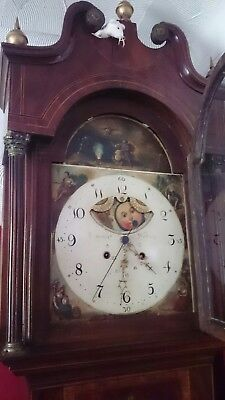 Centre seconds longcase clock 1810! Starwheel strike,axe moon!!!