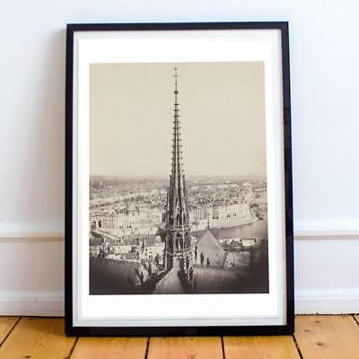 22x30 Inch France Paris View From Notre Dame 706 Art Print