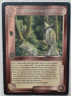 MECCG - Middle Earth CCG - The Wizards - ENG LTD - Sacrifice of Form - NM